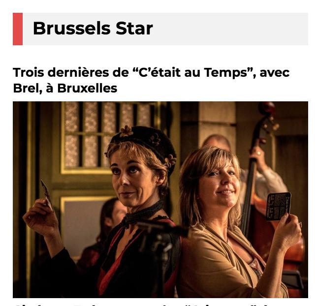 """Trois dernières de """"C'était au Temps"""", avec Brel, à Bruxelles"""